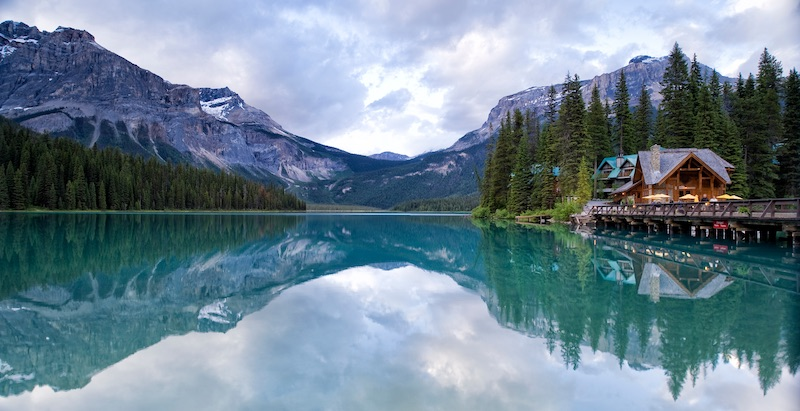 Emerald Lake is one of the highlights of Yoho National Park with its clear waters