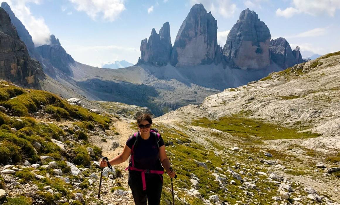 once you start hiking you'll find yourself wanting to explore destinations like the Dolomites in Itay