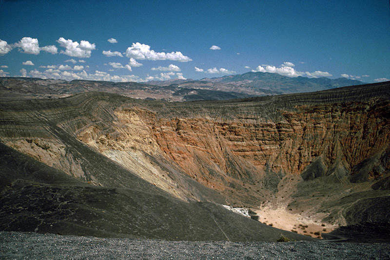 Ubehebe Crater Loop is one of the most scenic hiking areas in Death valey National Park