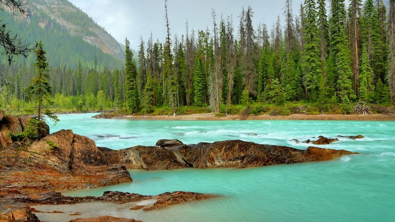 The kicking horse river is one of the most beautiful in Canada and should not be missed