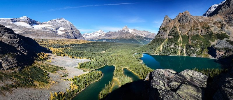 Don't miss passing by Lake O'Hara. It is one of the best attractions in Yoho National Park