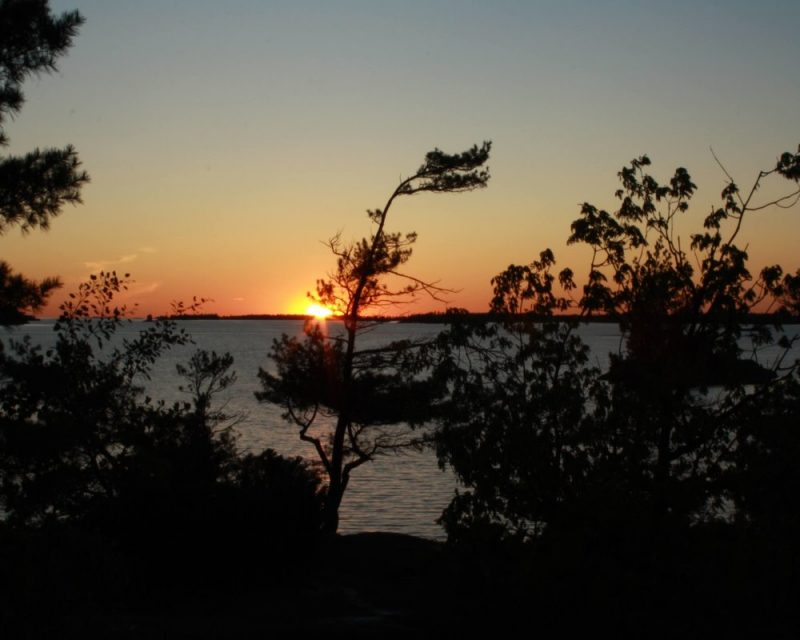 Besides primitive camping, I look forward to watching the sun set over Georgian Bay Islands NP. This is the unrivalled beauty of Canada.