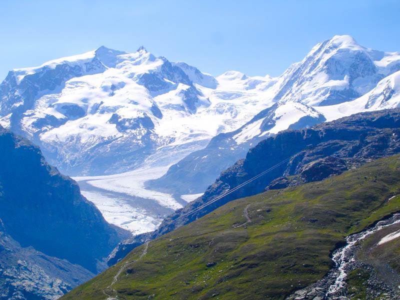 Mountain Landscape in the Haute Route from Chamonix to Zermatt