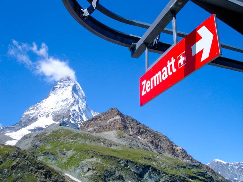 Arriving in Zermatt