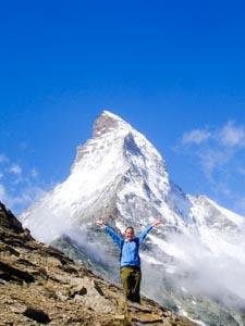 Hiking near the Matterhorn