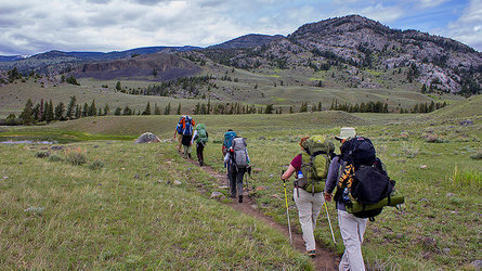 hiking tour in Yellowstone
