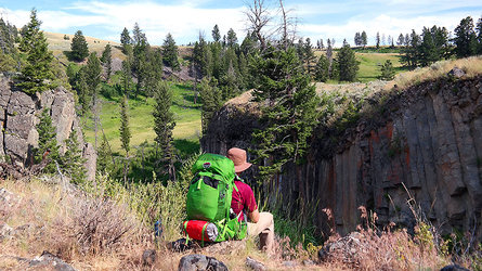 Backpacking in Yellowstone National Park