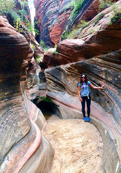 Hiker in Zion National Park