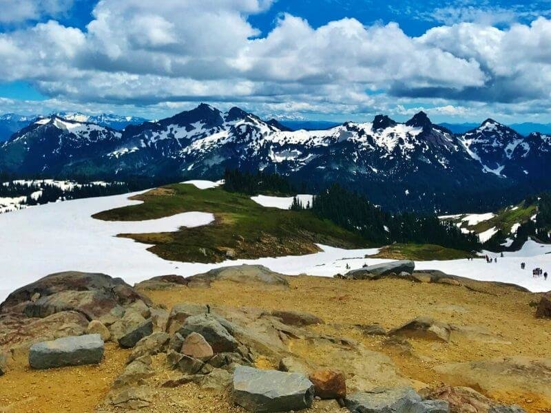 The Skyline Trail is a moderate hiking trail and gives you the best experience of Mount Rainer