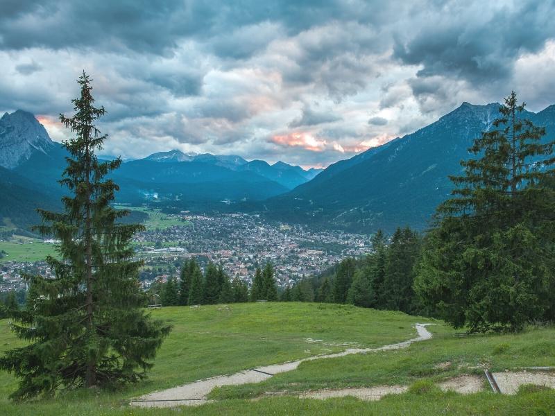 Garmisch-Partenkirchen makes a great base for exploring the German Alps.