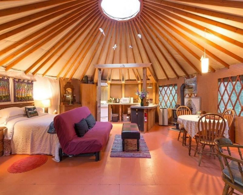 A Yurt stay is unique and can be found on Airbnb