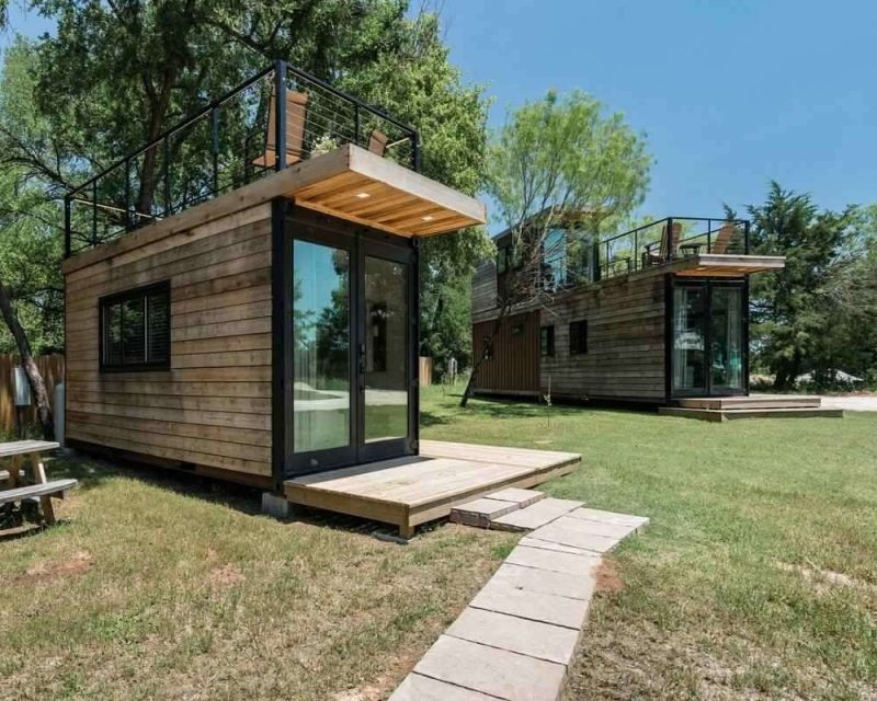 Tiny Cargo Homes are stylish and wonderful and can be found on Airbnb