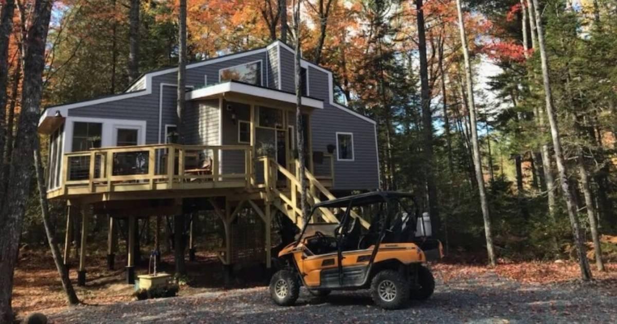 Treehouse rental near Bar Harbor, Maine