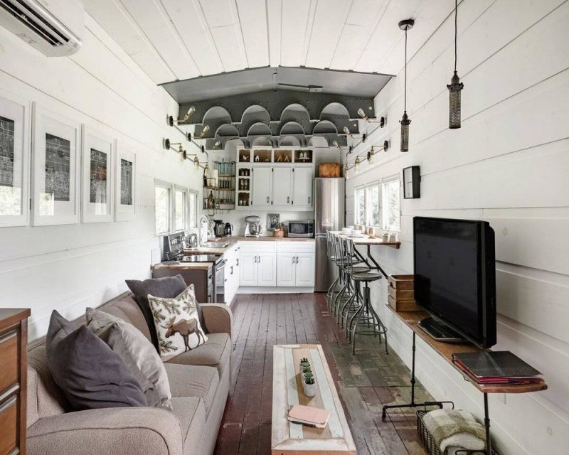 Stay in a WWII train car with modern finishing