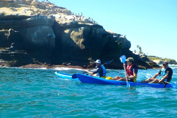Kayaking in the La Jolla caves is a great adventure in California that the whole family can enjoy.
