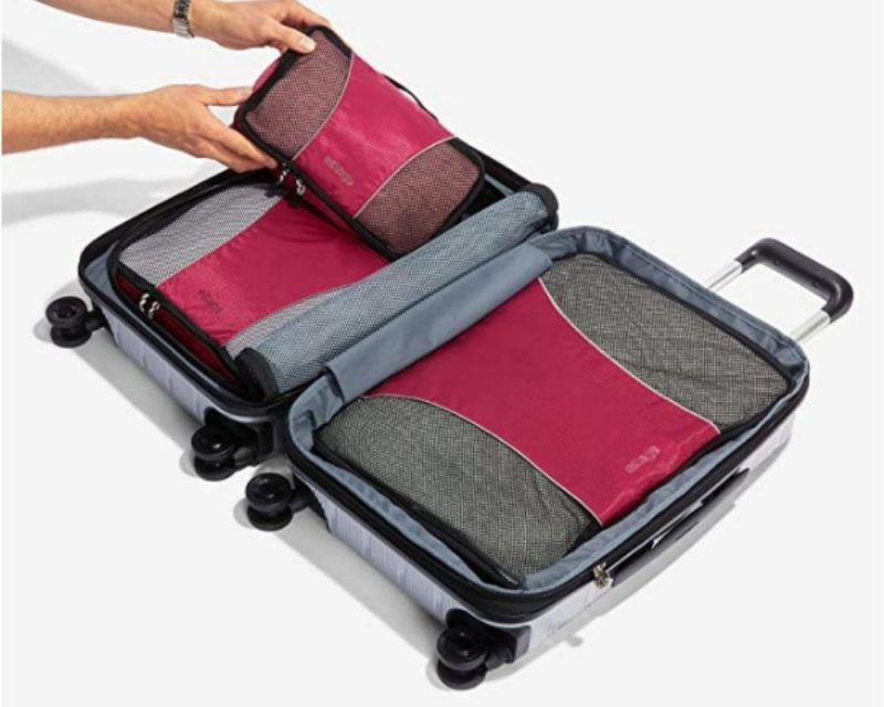 eBags make perfect cubes to help you organise your luggage.