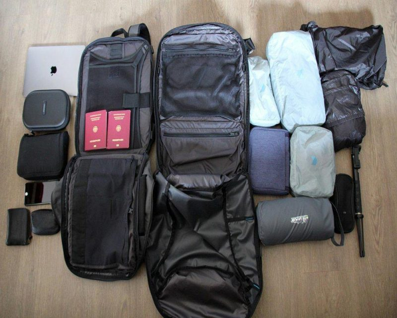 Packing cubes keep everything neat and organised