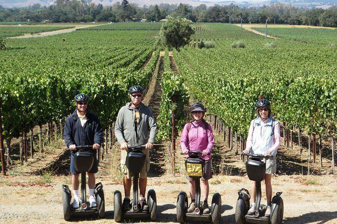 Taking a winery segway tour is a great adventure in California that can be enjoyed by anyone