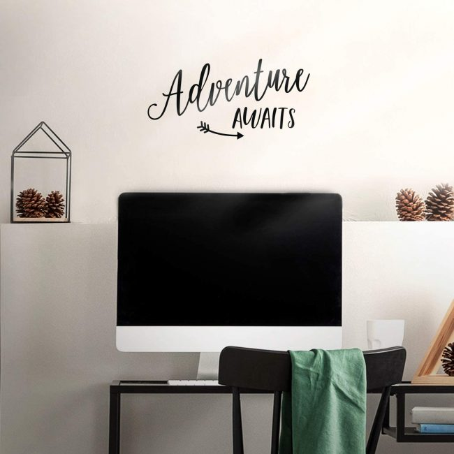 This travel decal is a great addition to your home decor.