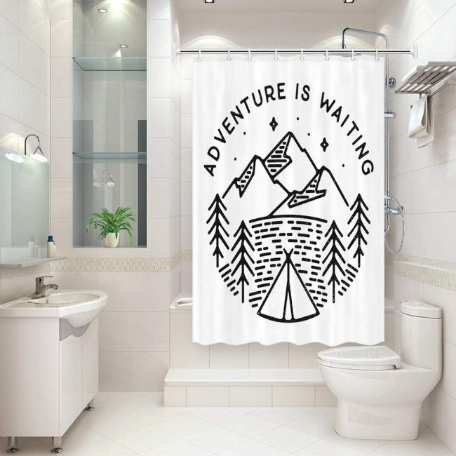 Add something different to your bathroom with an inspiring shower curtain.