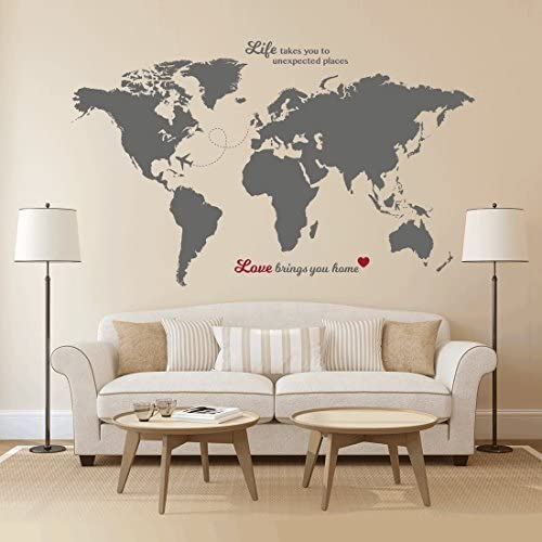 Make your home the perfect place by adding inspirational travel decals.