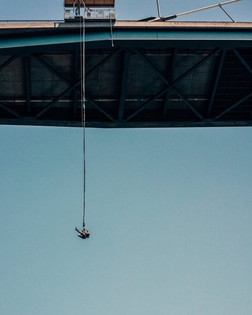 Bungee jumping is a great adventure in California