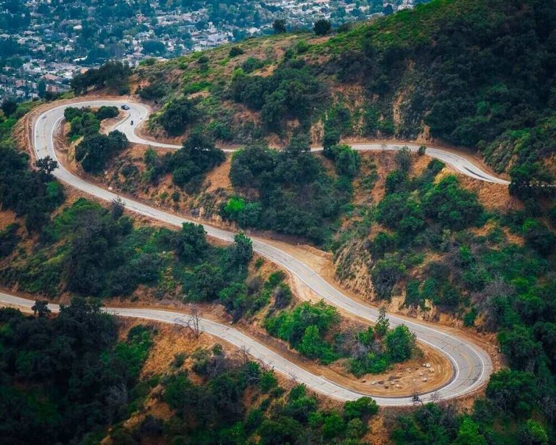 Glendora Road is a famous road to cycle because of its many twists and turns. This is a great place for an adventure in California