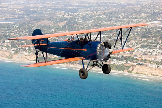 Try this amazing adventure in California in an open cockpit vintage biplane