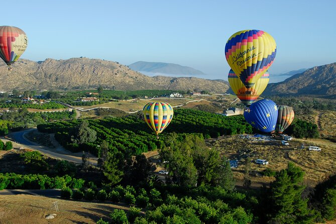 Hot air balloon rides are one of the best things to do in Temecula