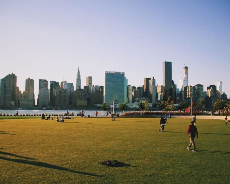 Gantry Plaza State Park is perfect for a relaxing day of serenity, beauty and terrific views of the NYC skyline.