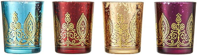 Henna patterned glasses make a beautiful addition to any space.