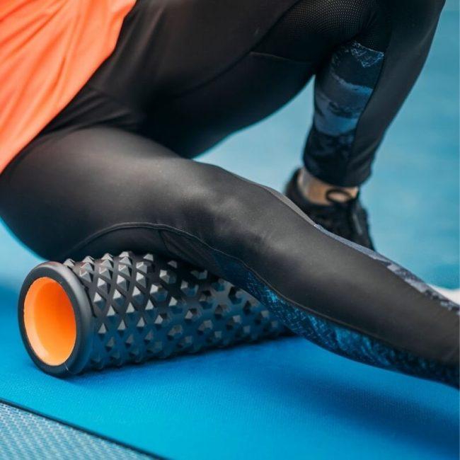Foam rolling is a great way to treat leg pain.