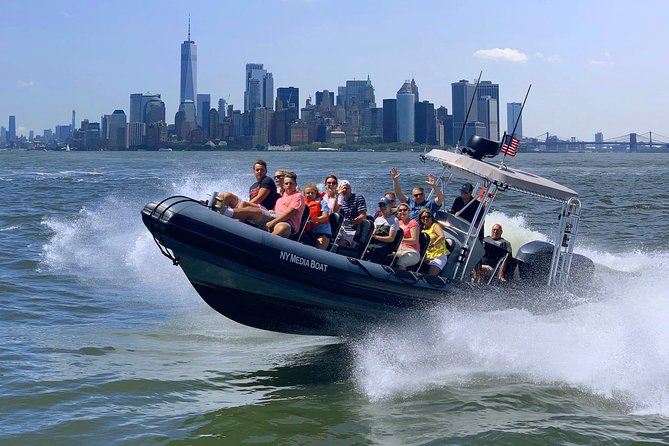 Take an adventure boat ride and learn more about iconic landmarks in NYC.