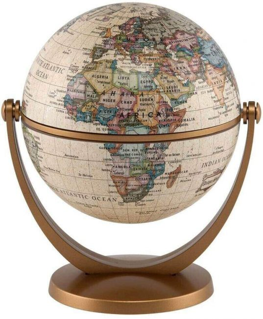Add an ornamental globe into any room to inspire you.