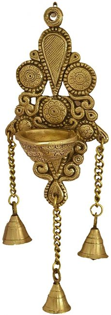 Oil lamps are traditional ornaments in Indian homes.