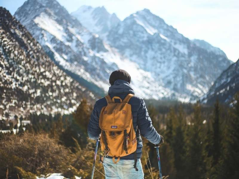 use poles when you hike to help reduce muscle soreness