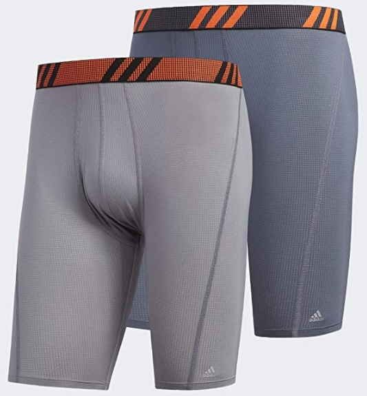 Adidas performance briefs are made to be comfortable, sweat wicking and they won't ride up your leg as you hike.