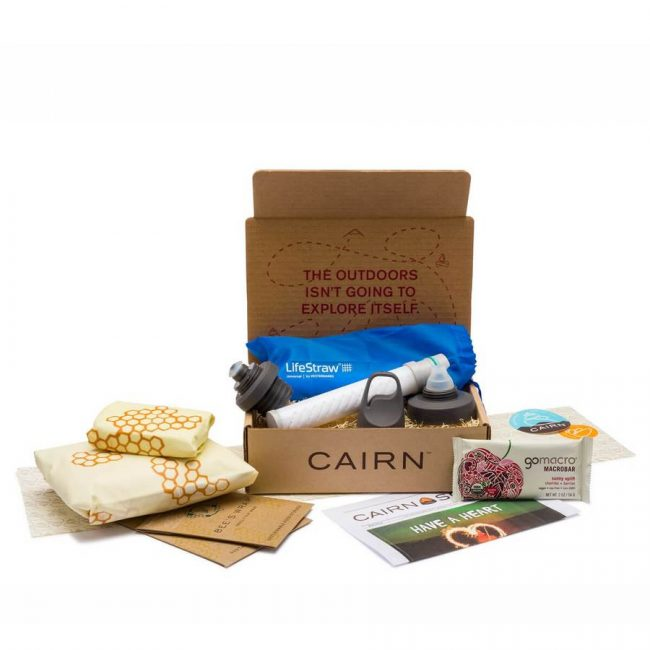 Monthly subscription box from Cairn with great outdoor clothing brands and gear.