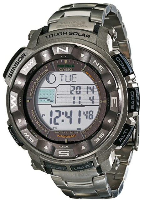 The Casio Pro Trek is great for mountaineering but does not include a GPS.