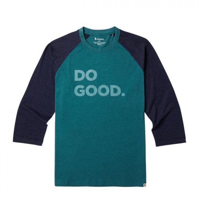 """Do Good"" baseball t-shirt by Cotopaxi"