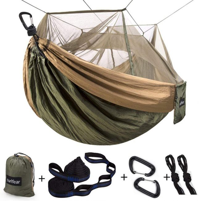 Double Hammock with Bug Net - a great camping gift