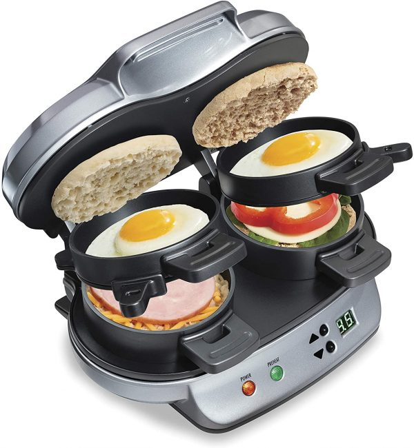 Dual Breakfast Sandwich Maker - camping gift