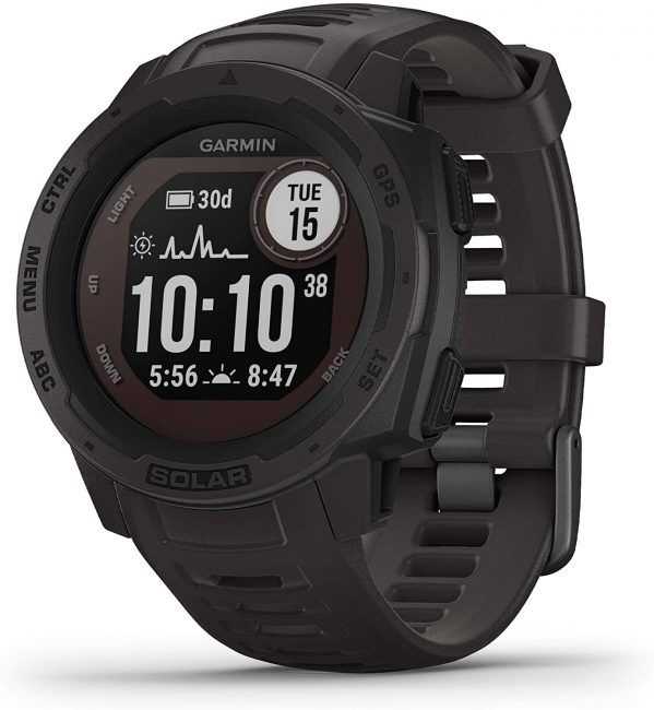 The Garmin Instinct Solar watch has one of the best GPS trackers.