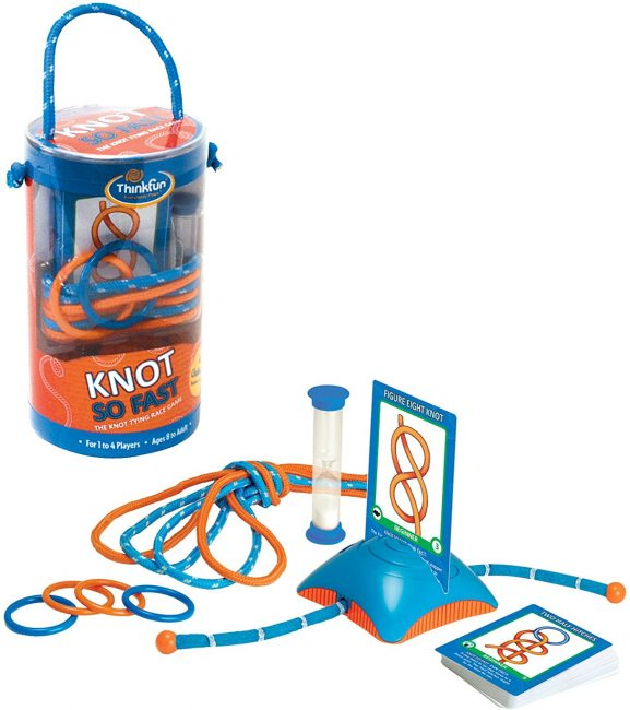 A Knot tying kit can give your outdoors loving kids endless hours of fun and learning.