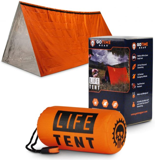 An emergency survival shelter is a great gift for the outdoorsy.
