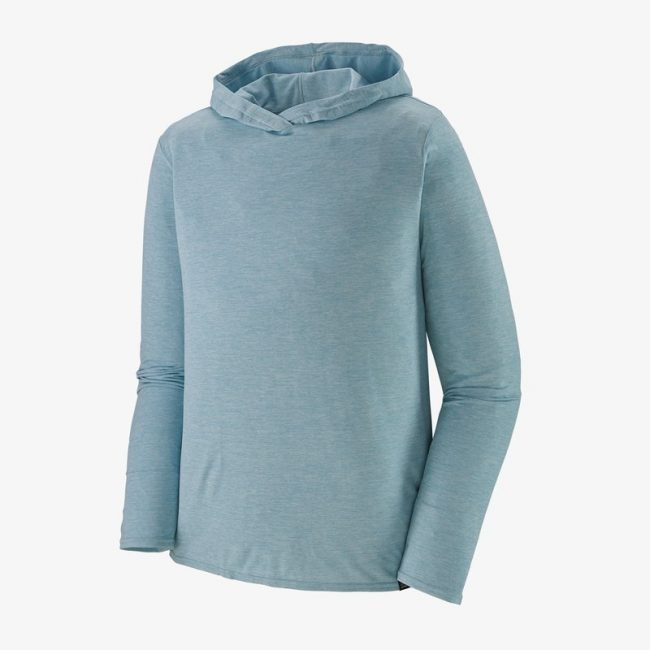 Men's Capilene Cool Daily Hoody in blue by Patagonia