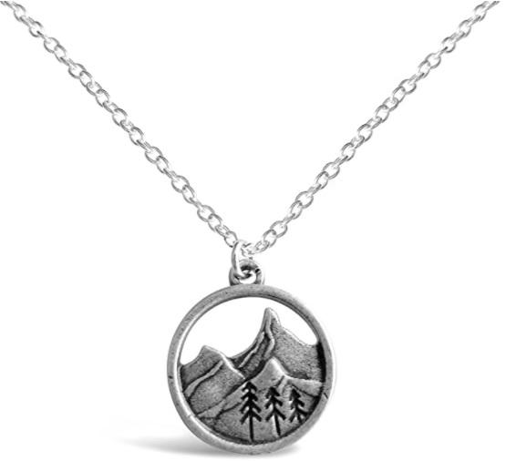 A stunning mountain range necklace is a perfect gifts for the outdoorsy