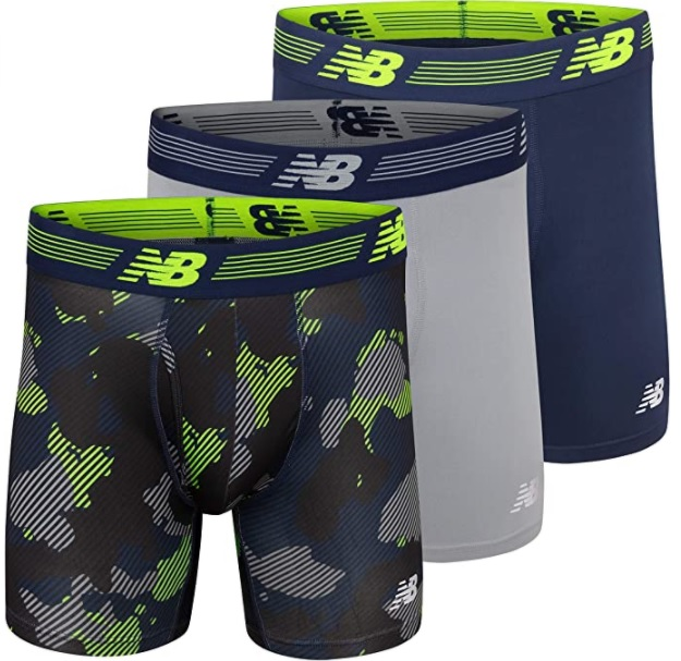 New Balance boxer briefs are great for hiking.