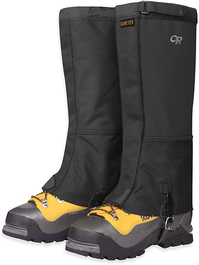 The Outdoor Research Expedition Crocodile is one of the best gaiters that is abrasion-resistant.