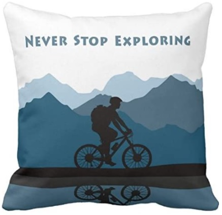 Adventure themed cushion covers are a great gift for the outdoorsy.
